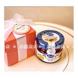 婚禮小物【Pink粉紅盒裝-瑞士進口喜諾Hero小蜂蜜送客禮盒】伴娘禮/活動禮/送客禮 幸福朵朵