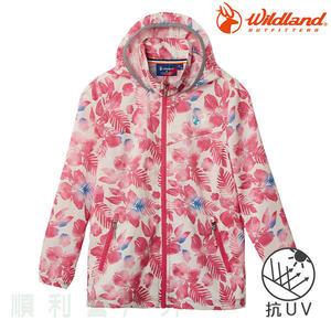 荒野 WILDLAND 兒童抗UV輕薄印花外套 0A61960 珍珠粉 排汗外套 防曬外套 OUTDOOR NICE