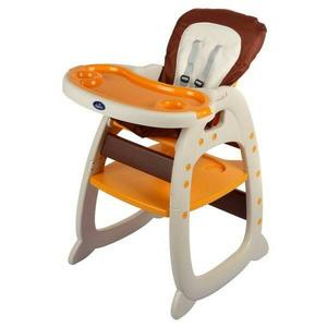 [家事達] Mother's love-多功能二合一 兒童餐椅(餐椅+課桌椅)-橘黃色  特價 二用書桌餐椅