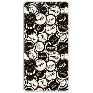 ✿ 3C膜露露 ✿ {黑白*立體水晶硬殼} SonyXperia Z /L36H / C6602手機殼 手機套 保護套 保護殼