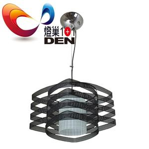 loft工業風 格雷特黑色金屬單吊燈【 燈巢1+1】 燈具。燈飾。Led居家照明。桌立燈  02033367