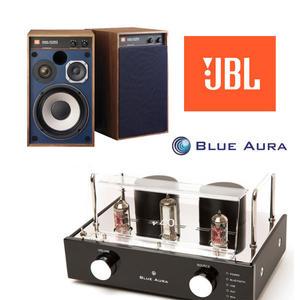經典數位~Blue Aura V40 Blackline擴大機 支援藍芽播放 + JBL 4312M II書架型喇叭 組合