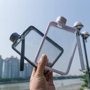 a5扁平水杯男士紙張水瓶女個性創意運動水壺方形簡約便攜健身杯子