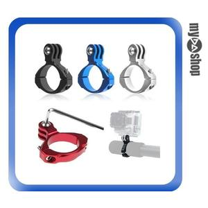 【3件任選88折】GoPro Hero 4s 4 3+ 3 2 1 鋁製 單車夾 車管架 固定夾 支架 自行車配件(83-0084)
