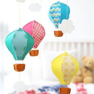 【韓風童品】(4個/組)立體熱氣球雲朵款派對裝飾/拍照背景裝飾掛飾/櫥窗掛飾佈置