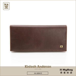 Kinloch Anderson 金安德森  皮夾 紳士品格 濃郁咖 牛皮長夾 KA168005CFF  MyBag得意時袋