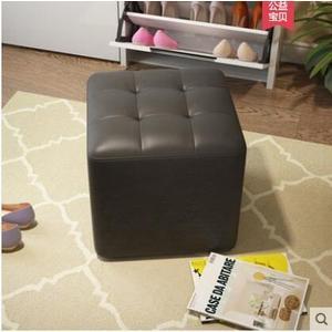 登竣 皮藝換鞋凳沙發凳可坐人正方形穿鞋小凳子客廳矮凳 KTV凳子