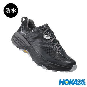 【線上體育】 HOKA ONE ONE男 Speedgoat 3 WP 野跑鞋 黑/灰雨,  送salomon頭巾
