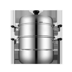 不銹鋼蒸鍋三層多3層蒸饅頭的蒸籠