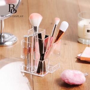 ❤️ 【幾何刷具收納架】 B款唇膏棉花棒化妝棉刷具小物收納 筆筒文具 彩妝保養品收納盒