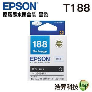 EPSON T188150 / T188 黑色 原廠墨水匣 適用於WF-7611/WF-3621/WF-7111/WF-7211/WF-7711