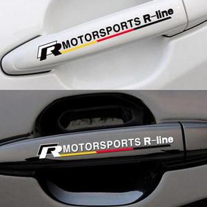 VW RLINE 門把手貼 車門 貼紙 GOLF GTI TIGUAN T5 POLO CADDY 沂軒精品 A0355