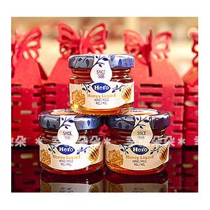 幸福朵朵*【鏤空囍字喜糖盒+瑞士進口喜諾Hero小蜂蜜100份+送專用紙箱】送客迎賓婚禮小物