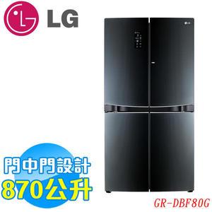 《靜態陳列品+送安裝+02/28前登錄LG送WiFi版掃地機器人》LG樂金 870公升五門魔術空間冰箱GR-DBF80G 黑