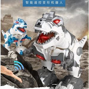兒童遙控恐龍玩具電動霸王龍仿真動物模型男孩感應變形機器人金剛 伊韓時尚