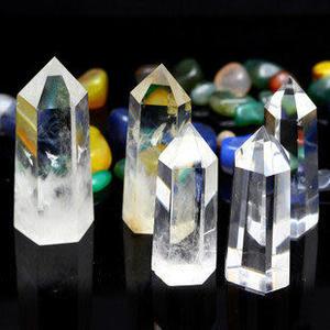 單尖白水晶簇原石七星陣擺件 能量柱