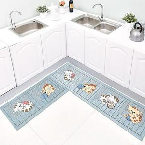 廚房地墊防滑防油家用長條腳墊小地毯衛生間吸水墊子門口進門門墊 任選1件享8折