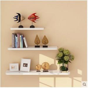 牆上置物架  牆壁客廳一字隔板擱板 壁掛層板【潮咖範兒】