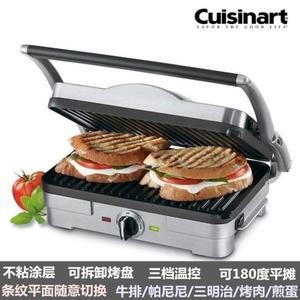 三明治機美國Cuisinart多功能牛排機家用帕尼尼機三明治機煎烤機漢堡機 小明同學NMS 220v