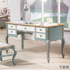 【森可家居】維多莉亞歐式4.6尺書桌(不含椅) 8HY483-01 兼化妝檯 歐式仿舊鄉村風 法式古典公主