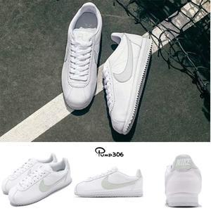 4a93dd54c Nike 阿甘鞋Wmns Cortez Flyleather 白綠淡粉綠灰復古慢跑鞋