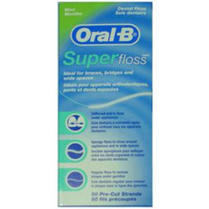 Oral-B 歐樂B三合一牙線 Super floss (50入) 超級牙線