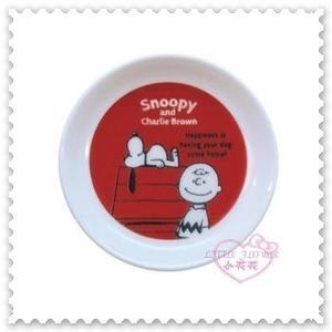 ♥小花花日本精品♥《SNOOPY》史努比 陶瓷迷你圓盤 點心盤 水果盤 零食盤 紅色 日本製 57023601
