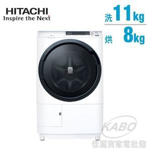 【佳麗寶】-留言享加碼折扣(HITACHI日立)3D自動全槽清水洗淨滾筒洗脫烘BDSG110CJ