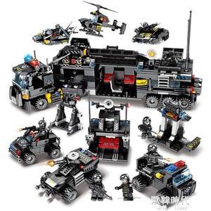 樂高積木男孩益智拼裝軍事特警汽車兒童警車玩具5-10歲 歐韓時代