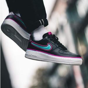 9d4cfe16a44b5 Nike Air Force 1 '07 LV8 黑藍勾南灣配色男慢跑鞋
