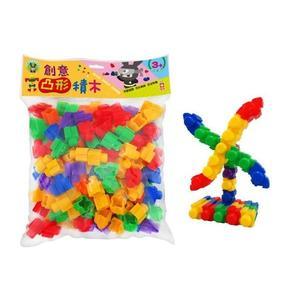 【幼福】創意凸形積木←轉螺絲、辨顏色、趣味造型+創意思考+益智啟蒙+手眼協調+色彩敏銳