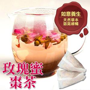 玫瑰蜜棗茶包,女生必喝茶飲1包(10入) 粉玫瑰+加州蜜棗【正心堂】