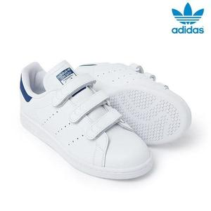 Adidas Originals STAN SMITH CF 三葉草藍 史密斯 魔鬼氈 BZ0535