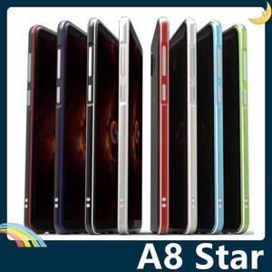 三星 Galaxy A8 Star 雙色金屬邊框 航空鋁合金 撞色螺絲款 可掛繩 超薄簡約 保護套 手機套 手機殼
