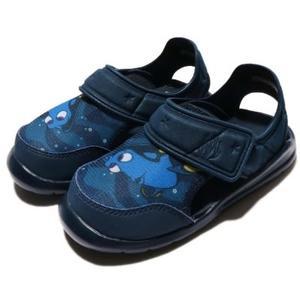 *adidas Disney Nemo 迪士尼多莉 藍色 包頭涼鞋 黏帶涼鞋  童鞋 BA9334