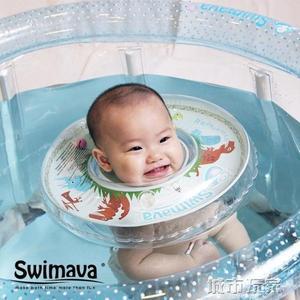 游泳池 Swimava官方 嬰兒游泳池家用游泳桶可折疊透明支架充氣大號洗澡桶 韓菲兒