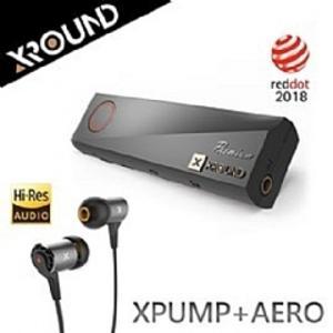 【風雅小舖】【台灣品牌XROUND XPUMP+AERO 3D智慧音效引擎耳機組合 】