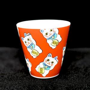 個人酒杯 青郊窯九谷燒 招財貓 日本製