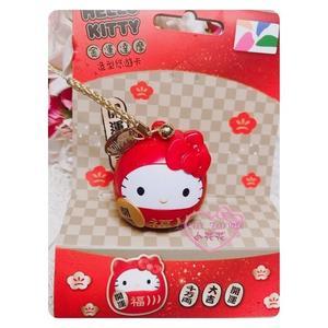 ♥小花花日本精品♥ 三麗鷗 Hello Kitty 開運大吉 招財 金運達摩 3D 造型 立體 悠遊卡 限量款 現貨