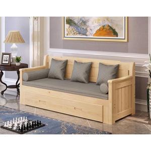 沙發床可折疊實木單人雙人小戶型客廳坐臥兩用多功能沙發 JD 全館免運