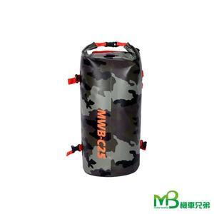 機車兄弟【OSAH摩拖車尾包桶包】(螢光綠/迷彩色/星空黑)(25L)