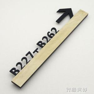 門牌號 指示牌3D木紋立體壓克力房間賓館酒店包廂包間宿舍數字門牌號號碼牌家用樓棟單元 智聯
