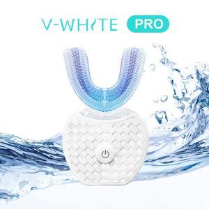 【買一送四】美國V-White PRO 全新第二代免持變頻電動牙刷 牙齒亮白 淨齒新科技 原廠現貨 超殺優惠
