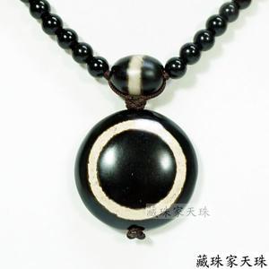 《藏珠家天珠》 一眼招財天珠項鍊