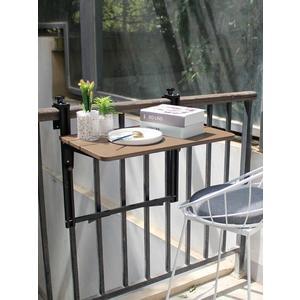 陽台欄桿掛桌懸掛 折疊方便掛電腦桌家用小吧台 創意升降折疊書桌 MKS摩可美家