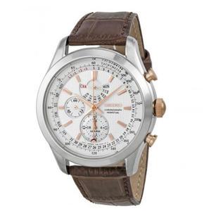 日本精工SEIKO手錶 Neo Classic 系列 三眼皮帶男錶 SPC129 男錶 石英錶   原廠保固兩年