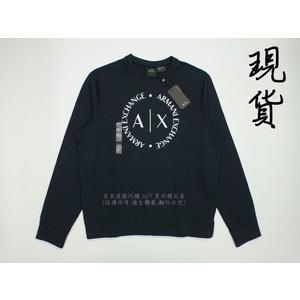 美國代購 現貨 ARMANI EXCHANGE 黑色 大學T (XL)