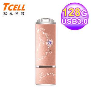 【TCELL 冠元】USB3.0 128GB 絢麗粉彩隨身碟-玫瑰金