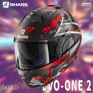 [中壢安信]法國SHARK EVO-ONE 2 彩繪 SKULD 黑白紅 可樂帽 全罩 安全帽 內墨片HE9705KWR
