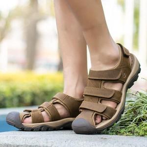 包頭真皮沙灘涼鞋 戶外涉水鞋 大碼鞋《印象精品》q253